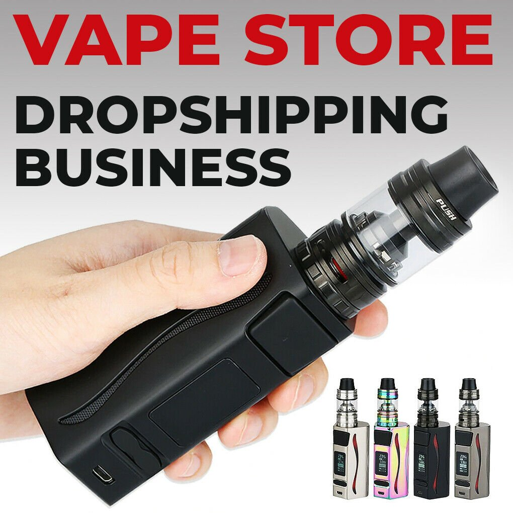 Vape & E-Cigs Dropshipping Shop - Turnkey Website Business