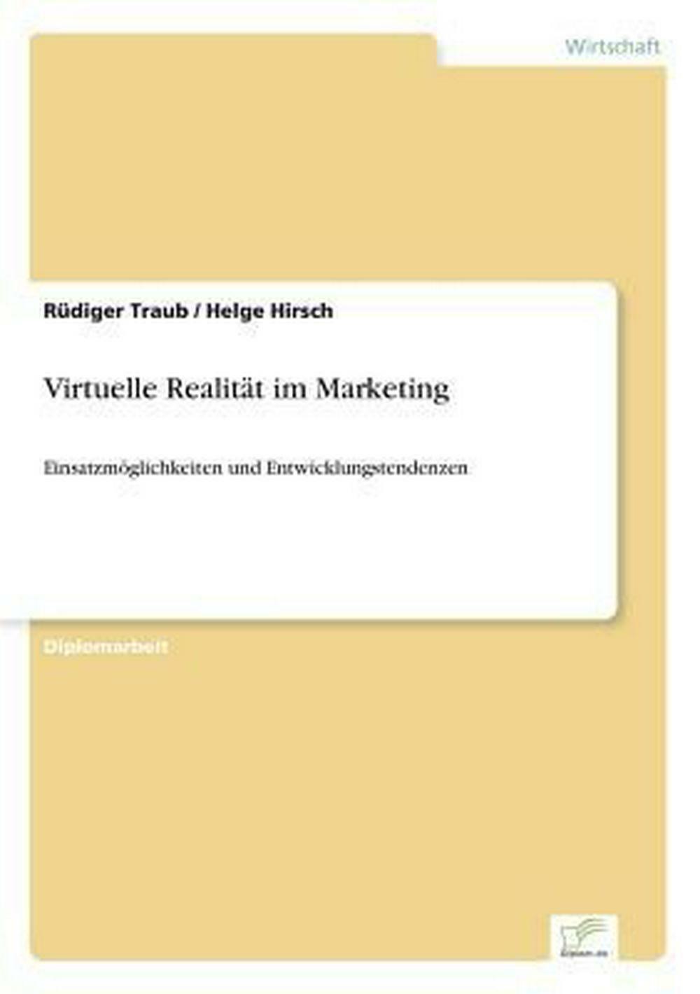 Virtuelle Realitat Im Marketing by Rudiger Traub (German) Paperback Book Free Sh