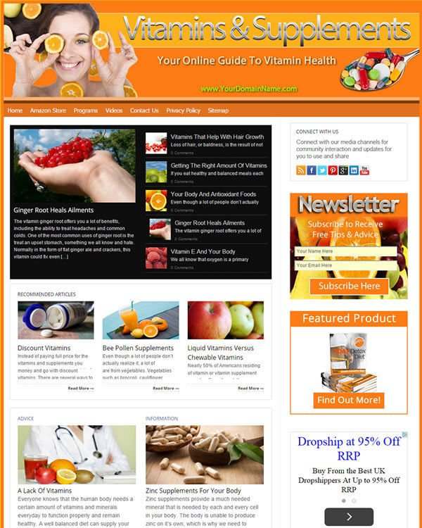 Vitamins And Supplements Website
