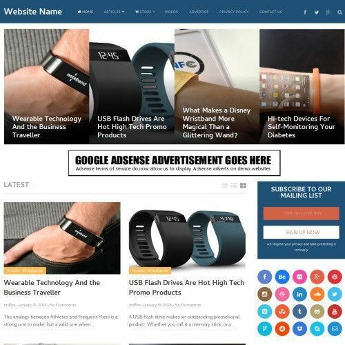 WEARABLE TECH STORE - Professionally Designed Affiliate Website For Sale