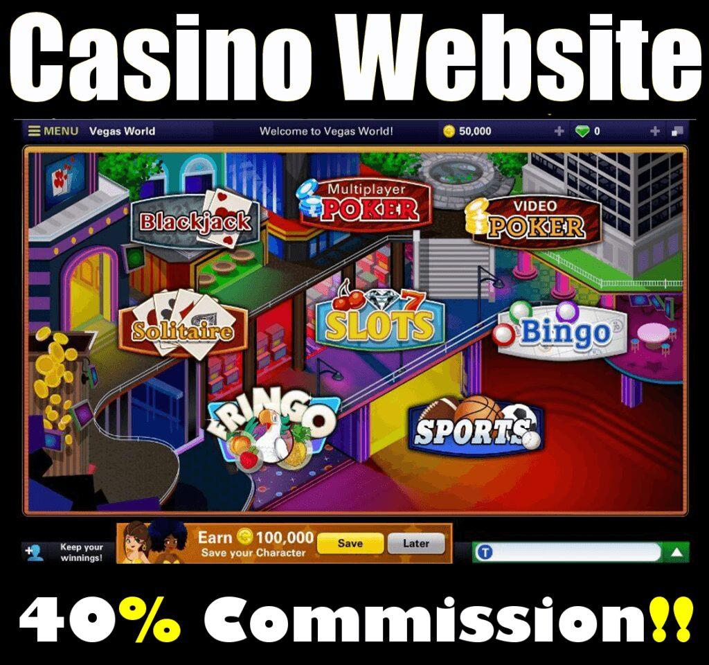 Website Vegas Games Fully Built Online Business Black Jack Poker Sports
