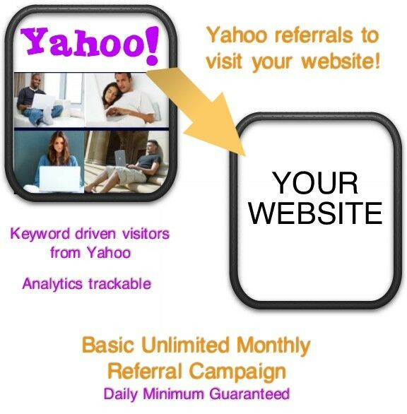 Website Visitors- 15 days/6000 Yahoo Referrals/Visitors to your website