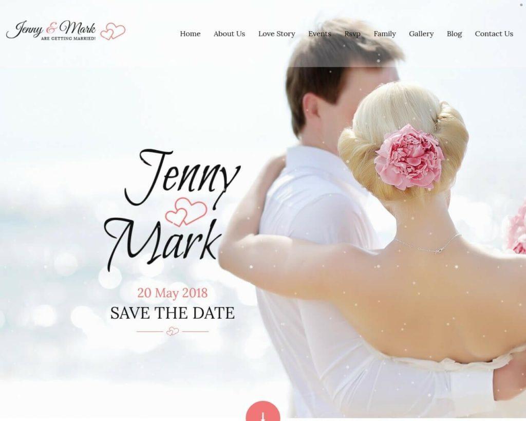 Wedding Responsive Website, Elegant Wedding Website, Custom Web design