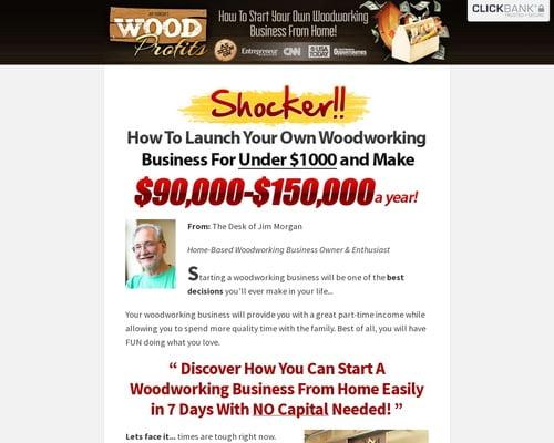 Woodprofits - $80 Per Sale - New Copy Doubles Conversions!