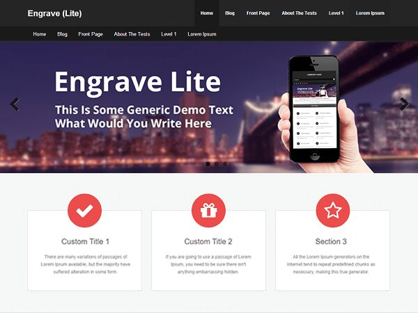 WordPress Engrave Lite Responsive Website