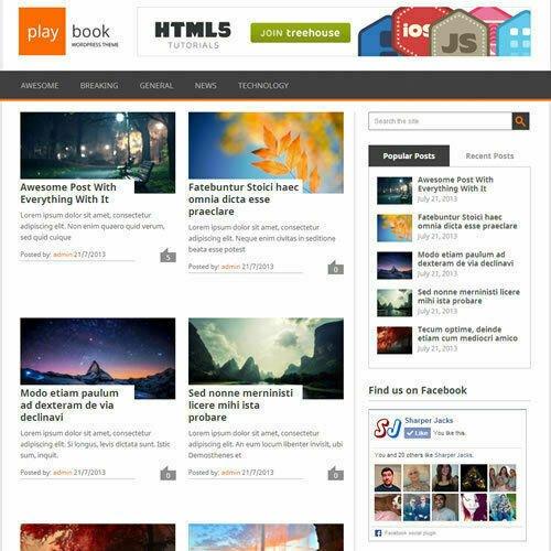 WordPress 'PLAYBOOK' Website News / Magazine Theme Business (FREE HOSTING)