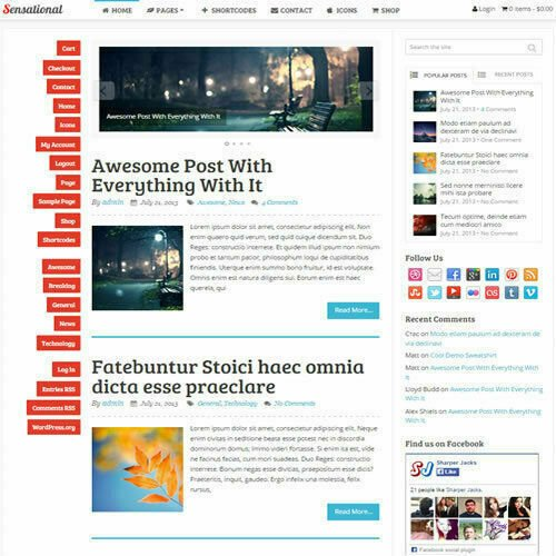 WordPress 'SENSATIONAL' Website eCommerce Magazine Theme For Sale (FREE HOSTING)