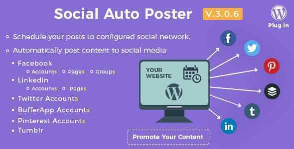 Wordpress ⭐ Social Auto Poster ⭐ ULTIMATE Premium VERSION 3.0.6
