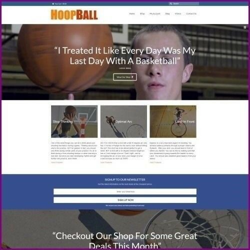 Work From Home BASKETBALL Website Business For Sale + Domain + Hosting + Help