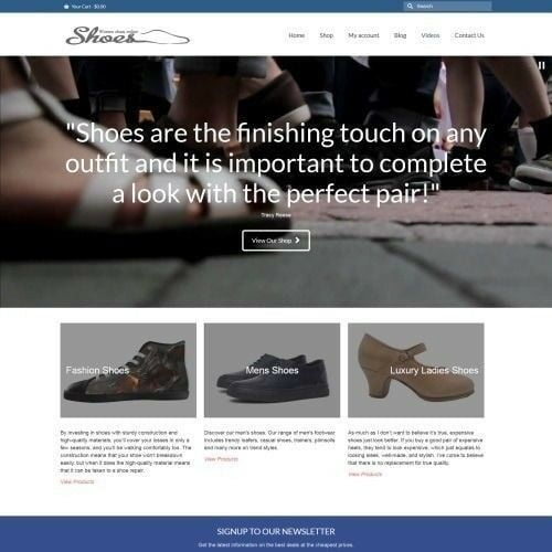 Work From Home SHOES Website Business For Sale + Domain Name + Hosting + Help
