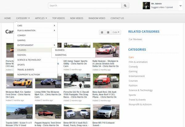 Youtube clone website Google adsense ads video film movie music on mobile phone