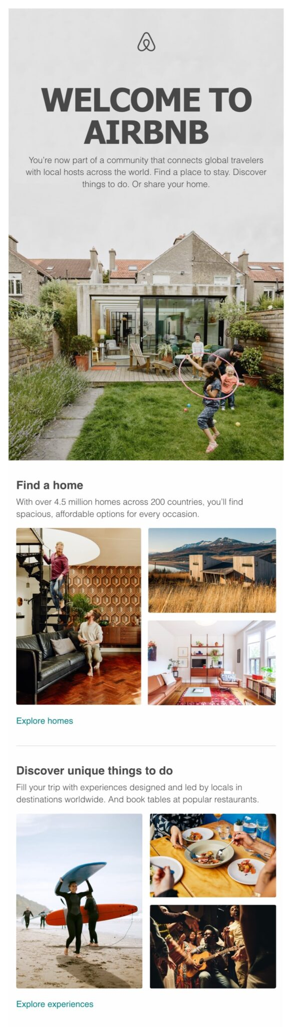 welcome email example airbnb