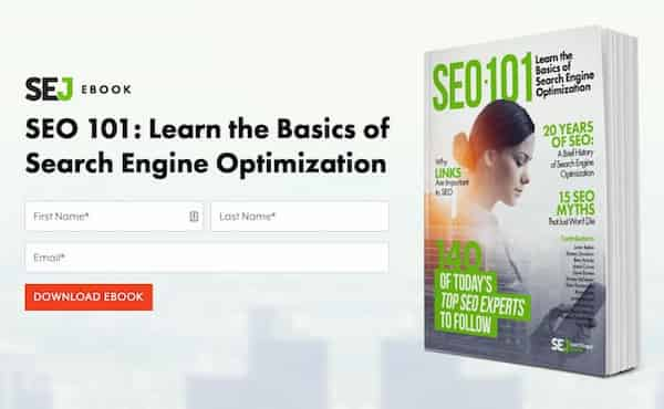Lead magnet example from SEJ - a downloadable guide.