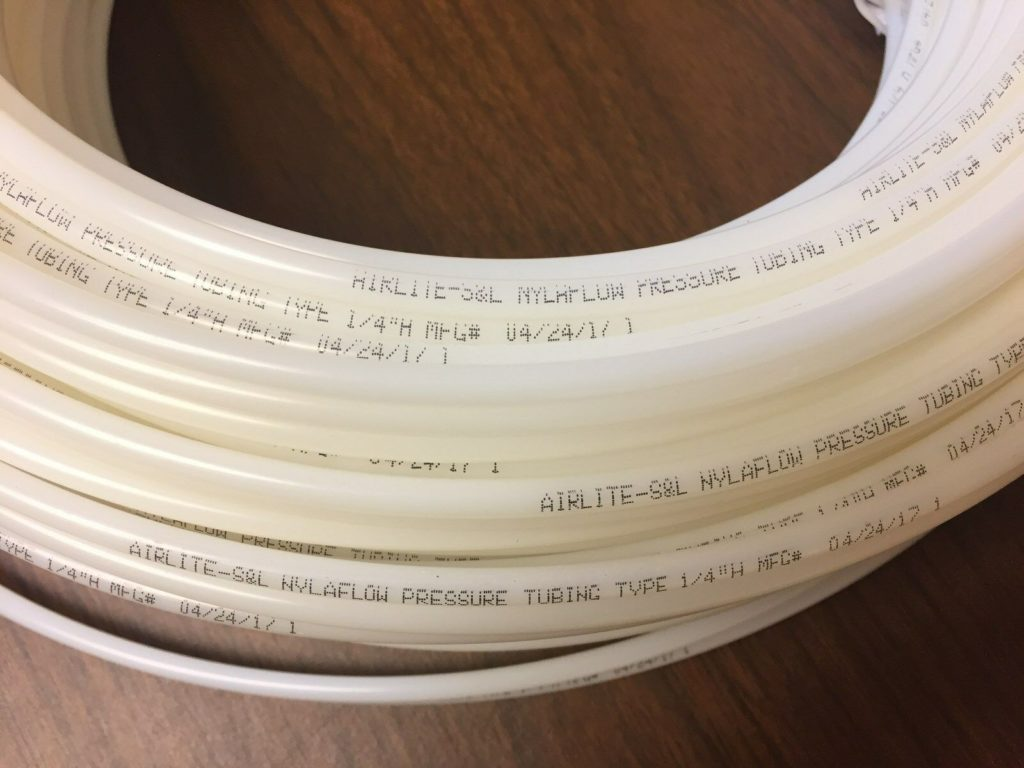 "25' Nylon Nylaflow Tubing Tube 1/4"" Type H High Pressure Pneumatic Compressed"