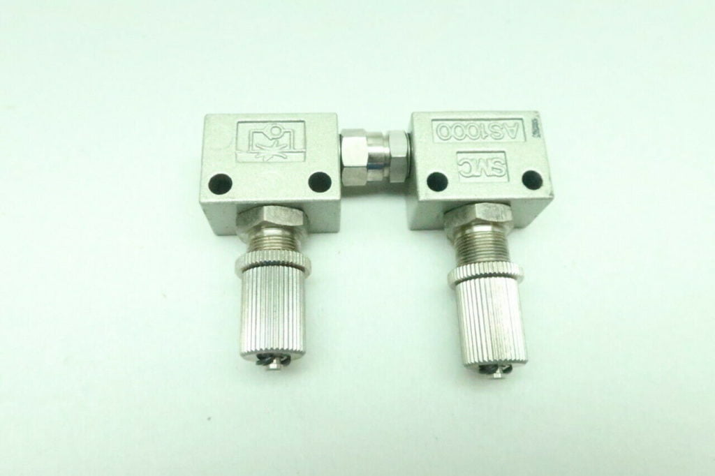 2x Smc AS1000 Pneumatic Flow Control Valve