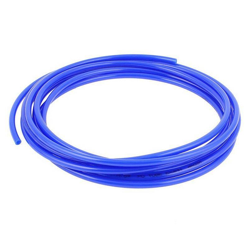 6mm x 4mm Pneumatic Air Compressor Pipe PU Hose Tube Pipe 4.5m Blue F8C5