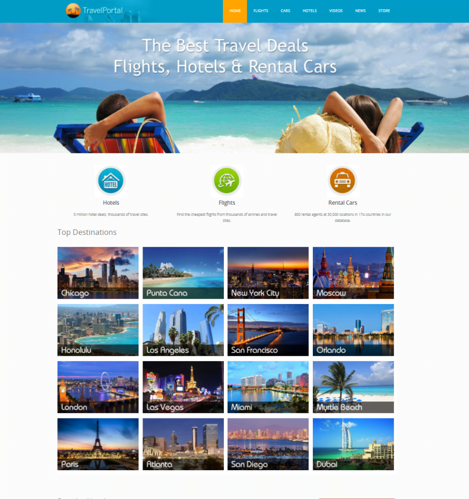 Best Automated Hotel & Flights Travel Website For Sale + Free Hosting 1 Month