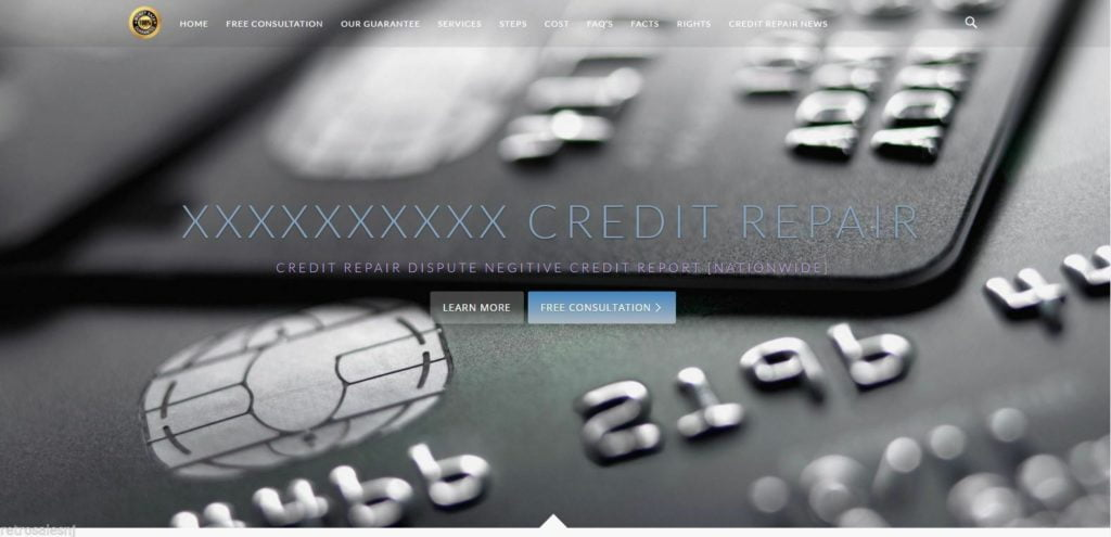 Business Website Credit Repair (you supply hosting and domain)