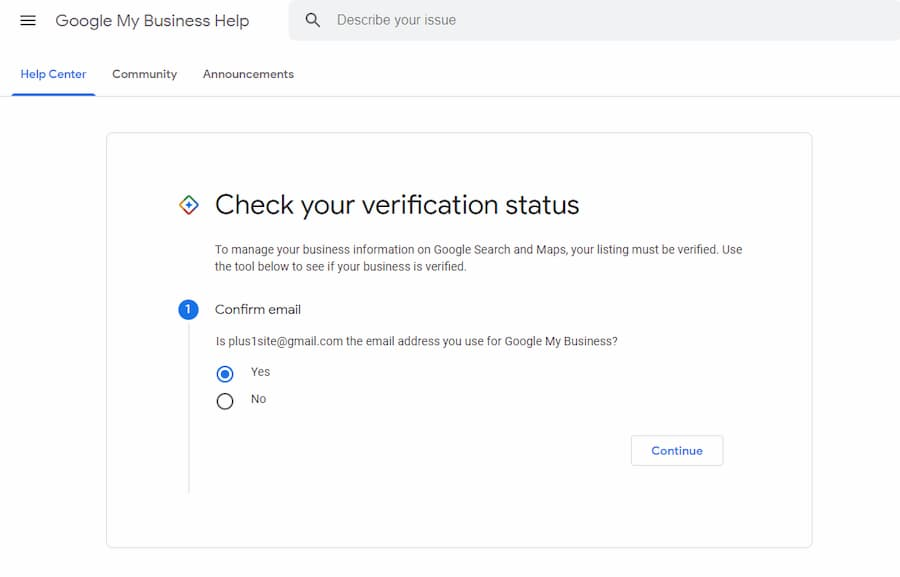 Google My Business Verification Tool - Online Ownership