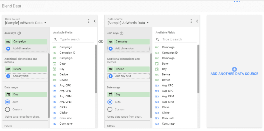 Data Blending Now Available in Google Data Studio