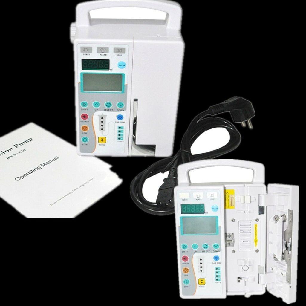 Express Medical Infusion Pump IV Fluid Device Alarm LCD Monitor KVO Purge Nurse