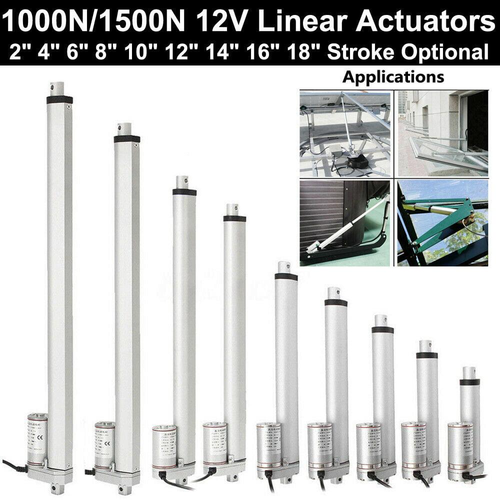 Linear Actuator Motor 1000N/1500N 12V Stroke 50-450mm For RV Car Medical Devices