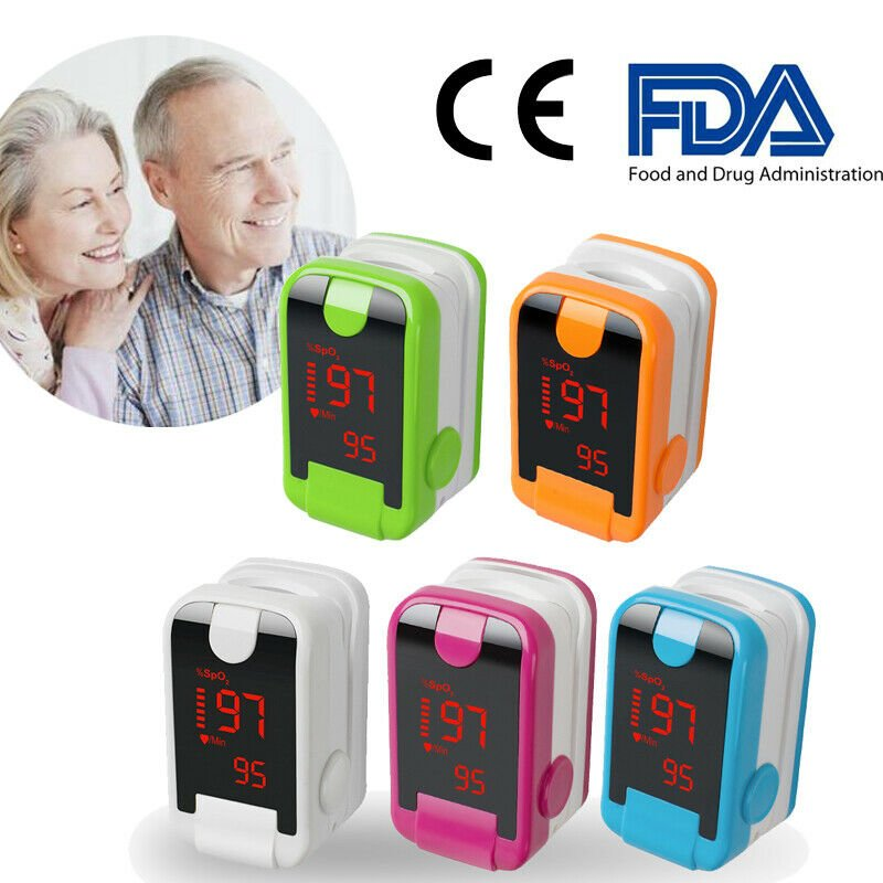 Medical LED Finger Pulse Oximeter Blood OxygenSPO2 HeartRate Device Home Health