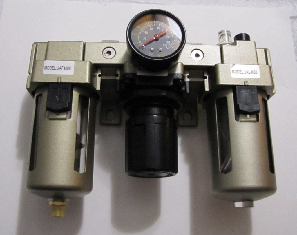 "NEW 3/4""  NPT Compressed Air Filter  Pressure Regulator Lubricator Combo  FRL"