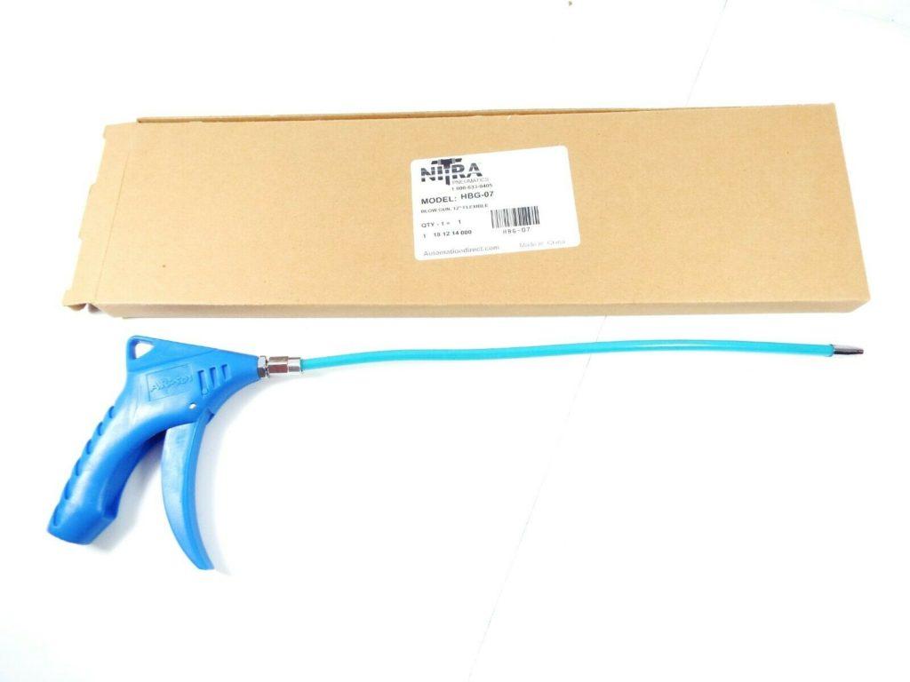 NITRA HBG-07 PNEUMATIC BLOW GUN PISTOL GRIP 12IN FLEXIBLE NOZZLE PLASTIC