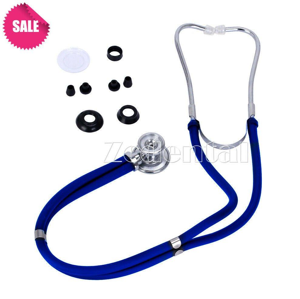PRO Doctors,Nurses Medical Home Dual Head Stethoscope Auscultation Device Blue