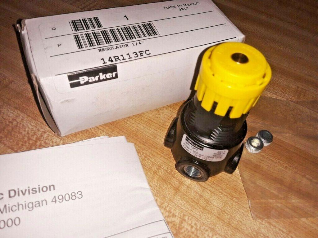 """Parker 14R113FC Pneumatic Air Pressure Regulator 1/4""""Npt 2-125 psi 300 Max"""