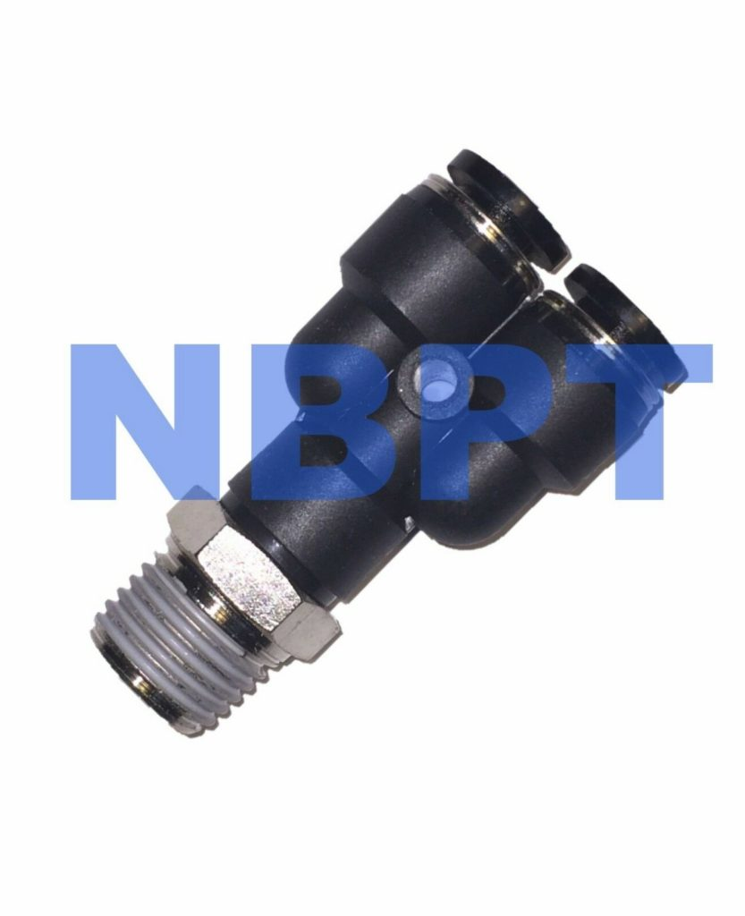 Pneumatic Branch PWT 4 mm Tube-R1/4,NBPT  One Touch Fitting 5