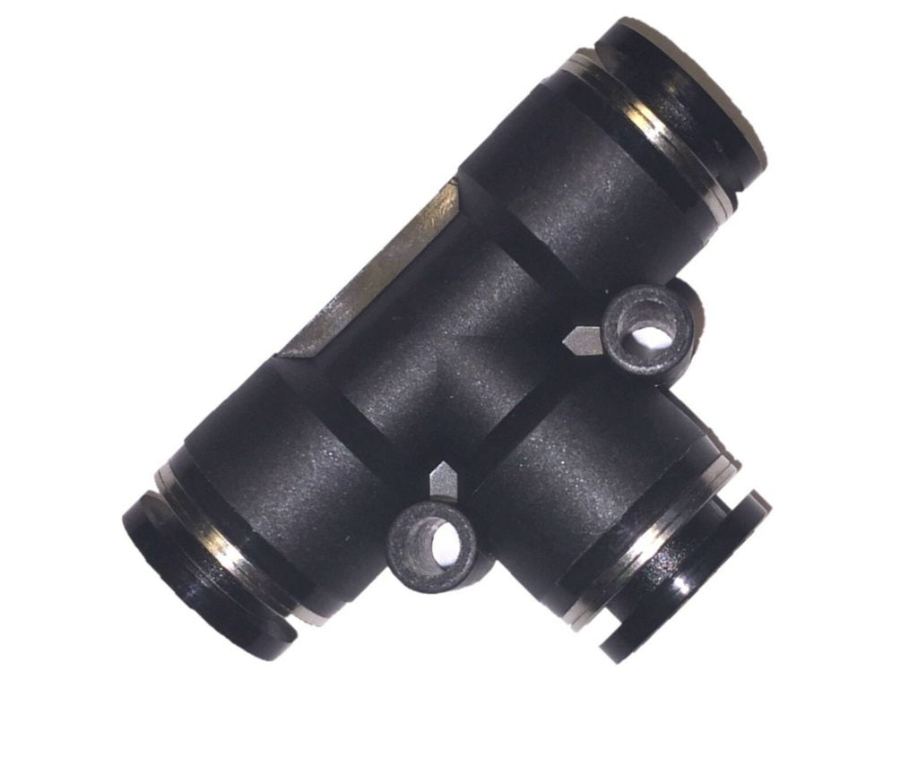 Pneumatic Tee Union Connector Tube OD 6 mm One Touch Push In Air Fitting