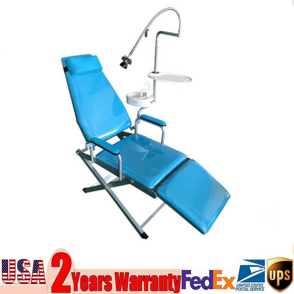 Portable Folding Chair 90~190 Centigrade Blue Medical Lab&Caregiving Furniture