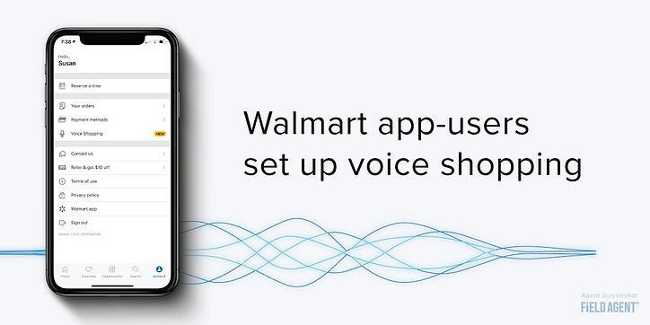 Walmart Siri Account