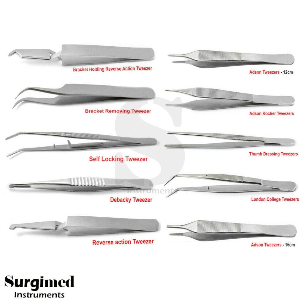 Surgical Tweezers for Medical Supply Anatomical Tweezers