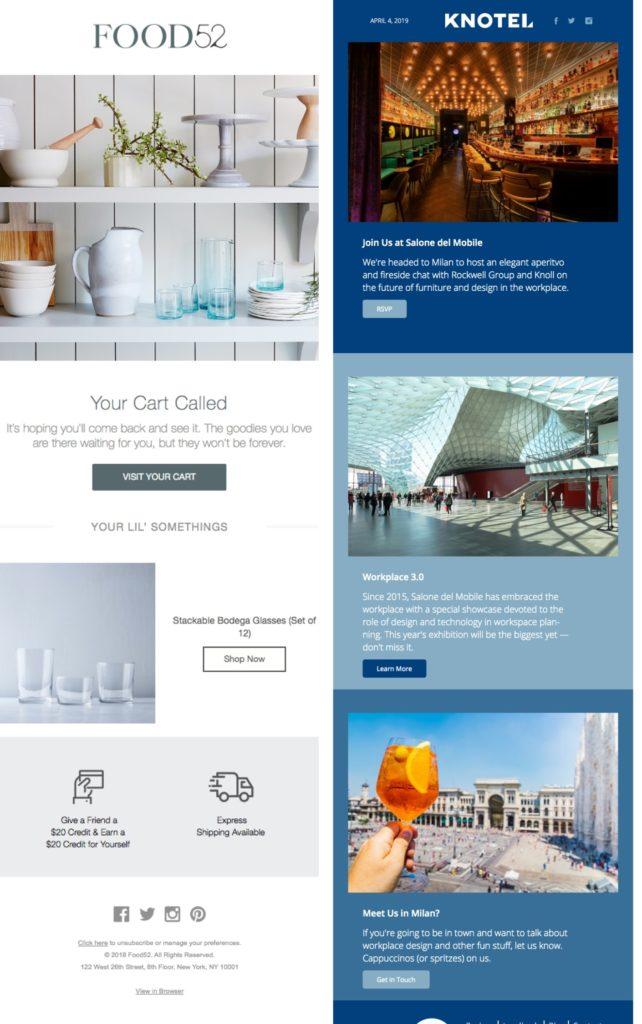Ecommerce newsletter vs. Non-ecommerce newsletter