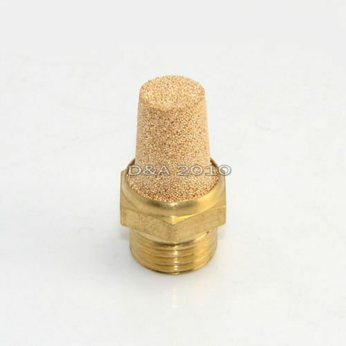 "Threaded 1/4"" Pneumatic Muffler Cone Filter Silencer Sintered Bronze Fitting NPT"