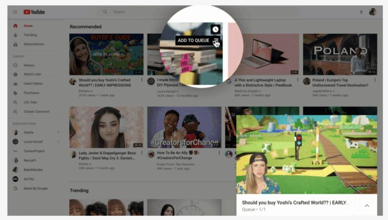 YouTube Launches a Redesign of its Desktop Homepage