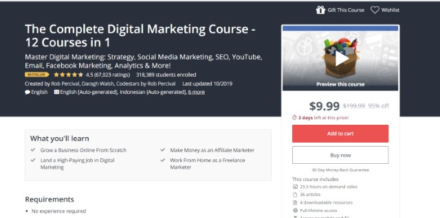 1. The Complete Digital Marketing Course - 12 Courses in 1