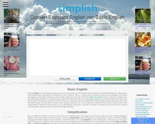 Simplish | An automatic multi-lingual simplifying & summarizing tool online.