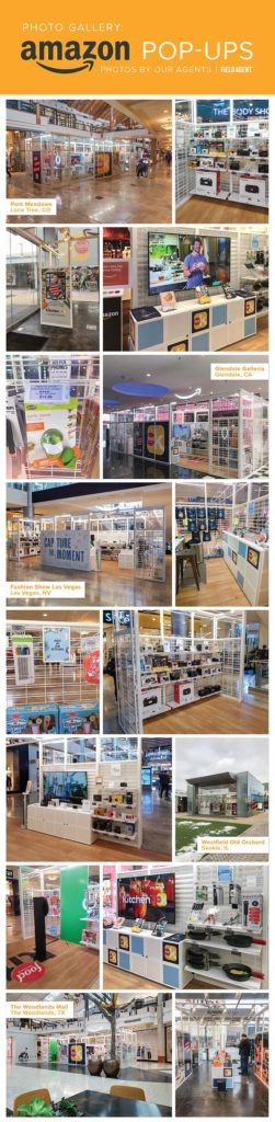 Amazon-Pop-Ups in Shopping Malls - Photo Gallery