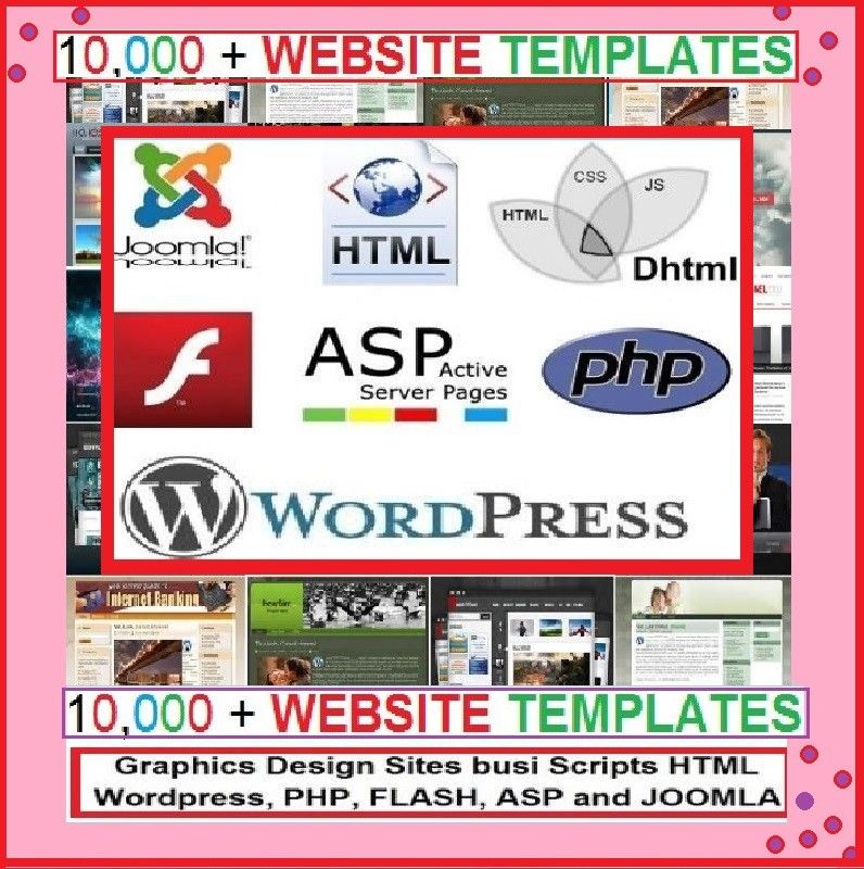 BEST DEAL -  10,000 Website Templates FLASH WORDPRESS JOOMLA & Others