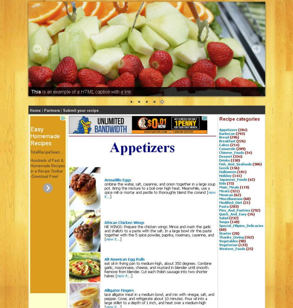 Cooking Recipe Website with 40,000+ recipes included
