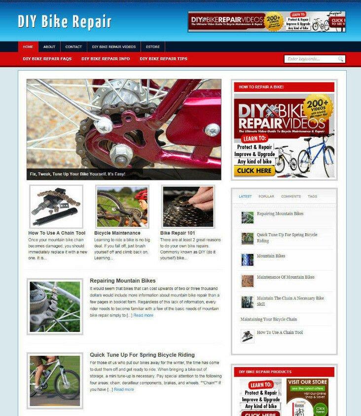 DIY BIKE REPAIRS WEBSITE AFFILIATE STORE & BLOG WITH NEW DOMAIN & HOSTING