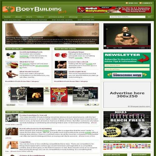 Established 'BODY BUILDING' Affiliate Website Turnkey Business (FREE HOSTING)