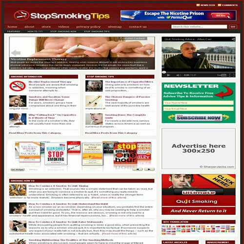 Established 'STOP SMOKING' Affiliate Website Turnkey Business (FREE HOSTING)