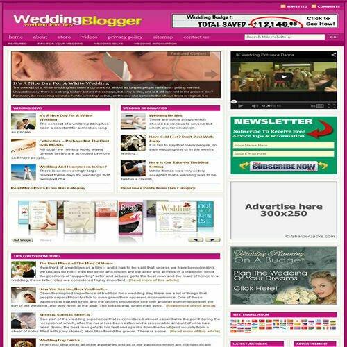 Established 'WEDDING' Affiliate Website Turnkey Business For Sale (FREE HOSTING)