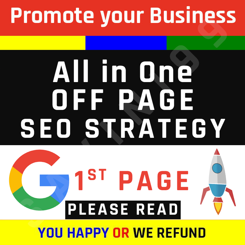 For Google Ranking - OFF PAGE WEBSITE SEO STRATEGY (100% Trust and Tested)