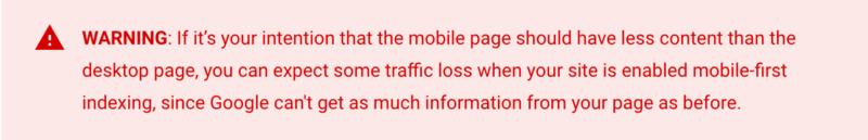 Google's mobile-first indexing guide update emphasizes the same content across site versions